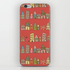 City {Housylands - red} iPhone & iPod Skin