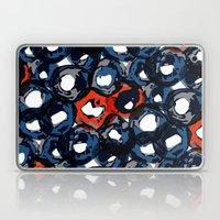 Deep Watercolor Circles Laptop & iPad Skin