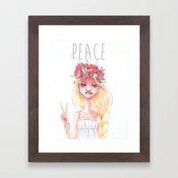 Hippie Framed Art Print