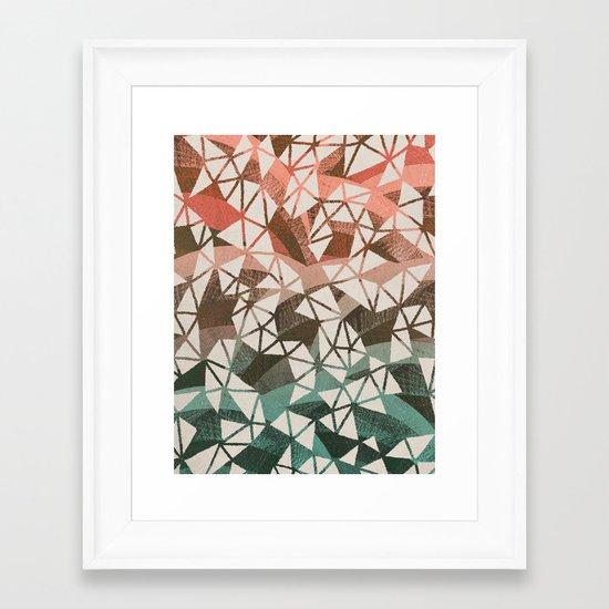 Geometry Jam Framed Art Print
