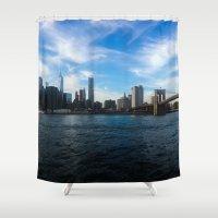 New York Skyline - Color Shower Curtain
