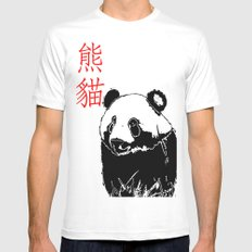 Panda White Mens Fitted Tee SMALL