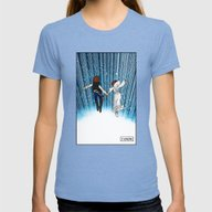 The Captain And The Prin… Womens Fitted Tee Tri-Blue MEDIUM