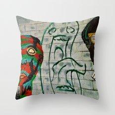 heads Throw Pillow