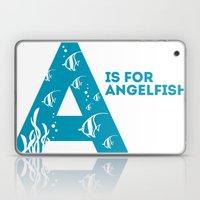 A is for Angelfish - Animal Alphabet Series Laptop & iPad Skin