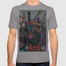 Sid Squish and the Death Collectors Mens Fitted Tee Athletic Grey SMALL