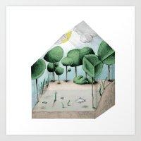 Biosphere Home Farm Art Print