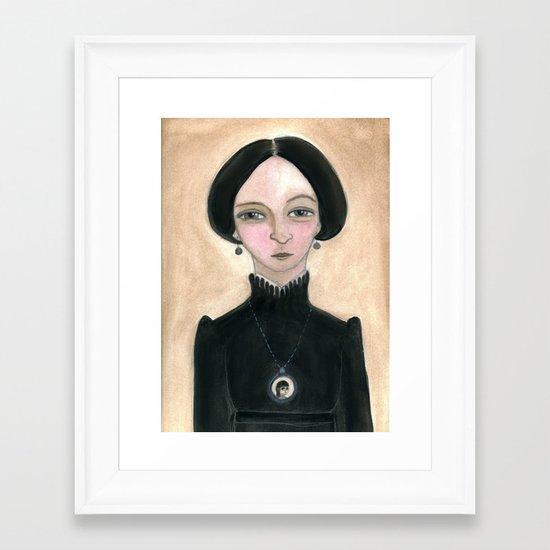 Miss Abigale Framed Art Print