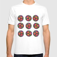 Wild Flowers Mens Fitted Tee White SMALL