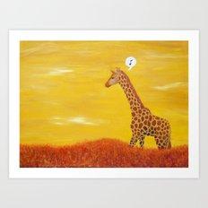 O-Giraffe Art Print