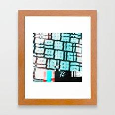 Glitchy keys Framed Art Print