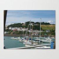 Boats In A Marina Canvas Print
