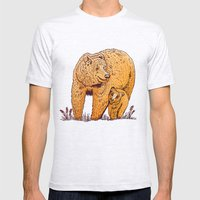 Mother Bear Mens Fitted Tee Ash Grey SMALL