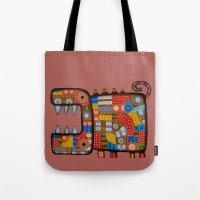 Dog hippo Tote Bag