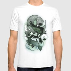 Nightmare Mens Fitted Tee SMALL White