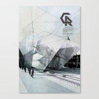The Caravansary Rail Canvas Print