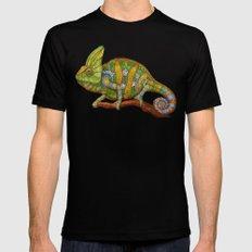 Veiled Chameleon Mens Fitted Tee Black SMALL