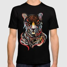 Tiger Mens Fitted Tee SMALL Black