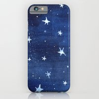 Midnight Stars Night Watercolor Painting by Robayre iPhone 6 Slim Case
