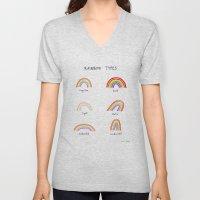 Rainbow Types Unisex V-Neck