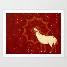 Sun Oryx Art Print