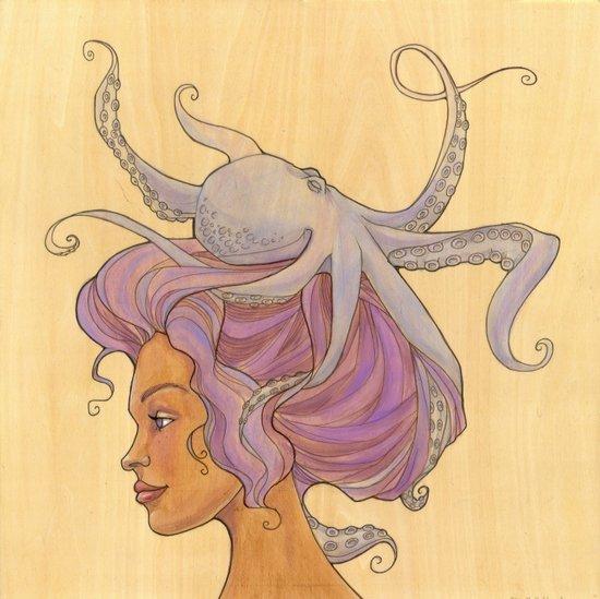 The Octopus Mermaid 4 Art Print