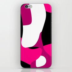 Pink black and white Abstract 3 iPhone & iPod Skin
