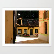 Colorful Spanish houses  Art Print