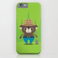 iPhone & iPod Case featuring Smokey Bear by Steph Dillon