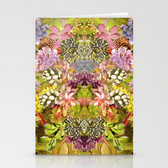 Succulent Garden Stationery Card