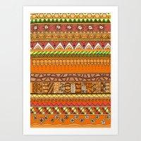 Yzor Pattern 012 Rich Su… Art Print