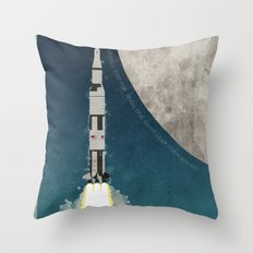 Apollo Rocket Throw Pillow
