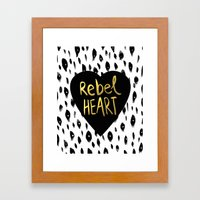 Rebel Heart Framed Art Print