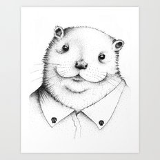 Cute Otter ! Art Print