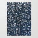 Metallic Floral Canvas Print