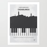 No192 My Casablanca minimal movie poster Art Print