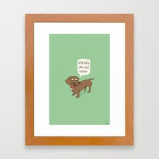 Immature Dachshund Framed Art Print