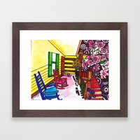 A Southerner's Porch View Framed Art Print