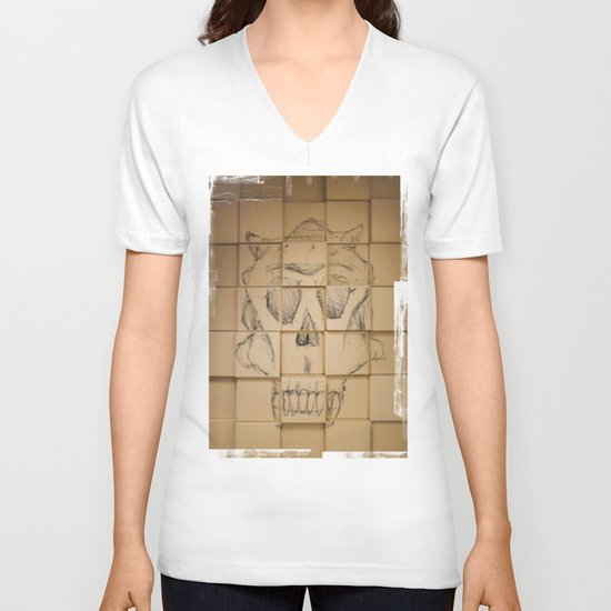 Space in Boxes V-neck T-shirt