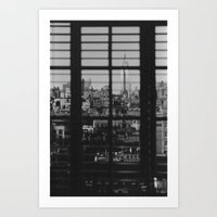 Through The Blinds Art Print