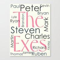 THE EXES Canvas Print