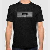 State Of Denial Mens Fitted Tee Tri-Black SMALL