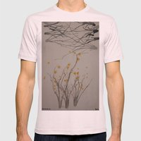 Spring Begins Mens Fitted Tee Light Pink SMALL