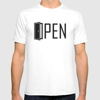 OPEN Mens Fitted Tee White SMALL