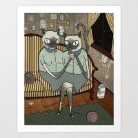 Siamese Siamese Art Print
