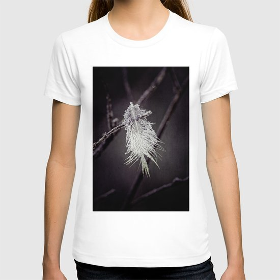 frosted feathers T-shirt