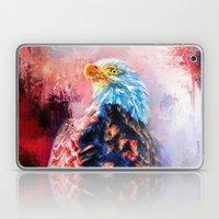 Jazzy Bald Eagle Colorful Bird Art by Jai Johnson Laptop & iPad Skin