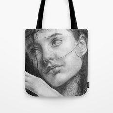 Angelina Jolie Traditional Portrait Print Tote Bag