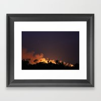 Bush Fire  Framed Art Print