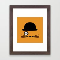 Catwork Orange Framed Art Print
